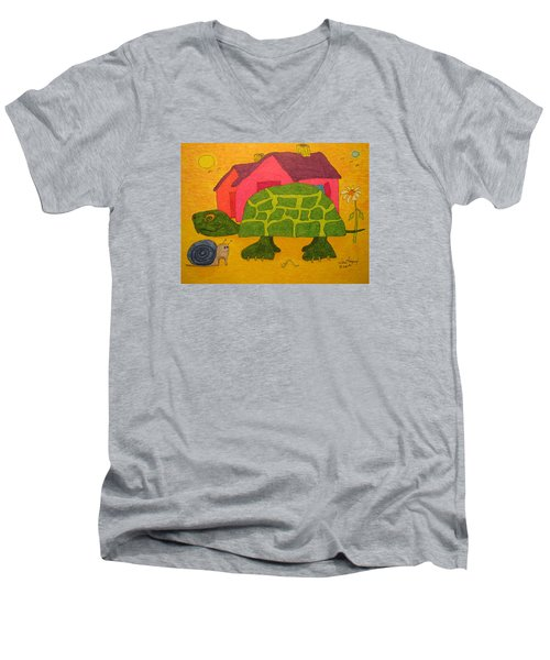 Turtle In Neighborhood Men's V-Neck T-Shirt