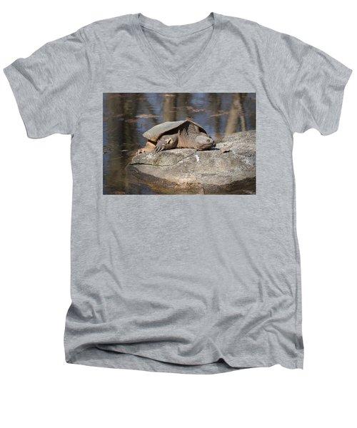 Turtle Tanning Bed Men's V-Neck T-Shirt