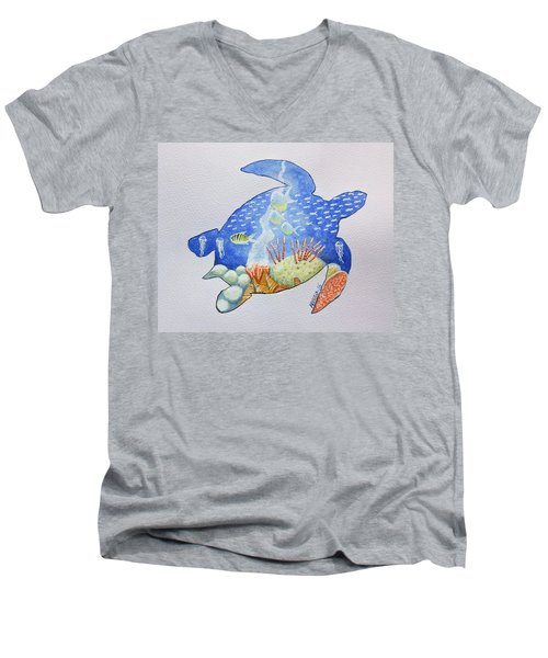 Turtle's World Men's V-Neck T-Shirt