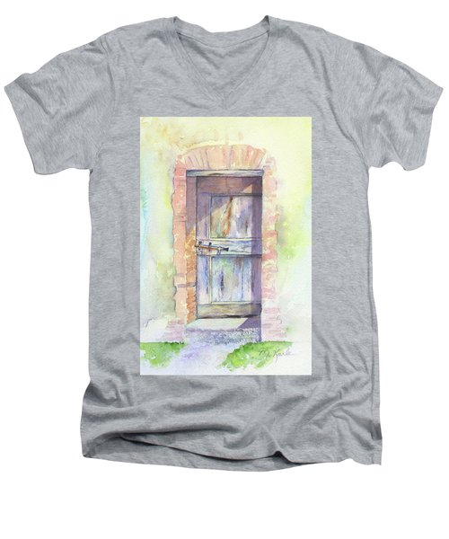 Tuscan Doorway Men's V-Neck T-Shirt