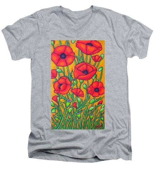 Tuscan Poppies - Crop 2 Men's V-Neck T-Shirt
