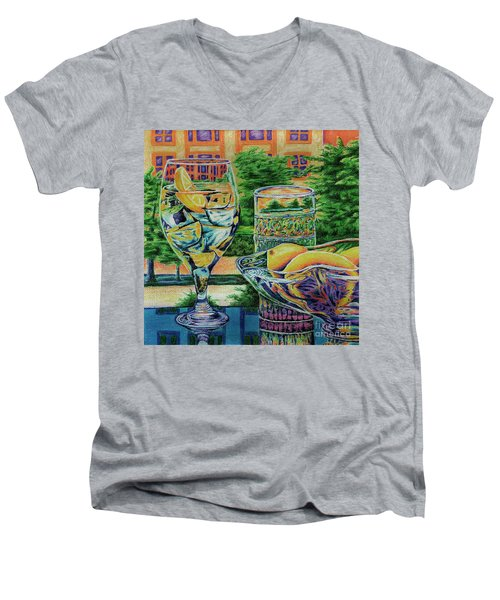 Tuscan Summer Lemonade  Men's V-Neck T-Shirt by Peter Piatt