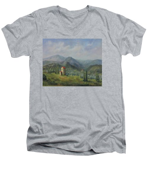 Tuscany Italy Olive Groves Men's V-Neck T-Shirt