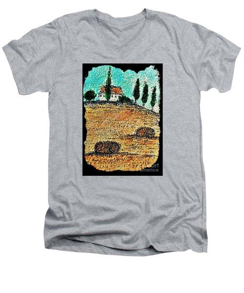 Tuscany  Men's V-Neck T-Shirt by Jasna Gopic