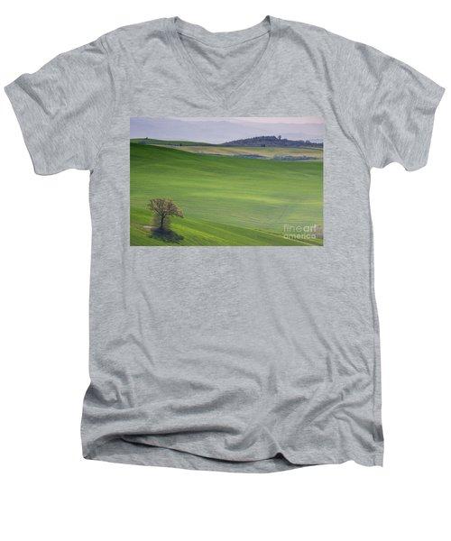 Tuscany Landscape Men's V-Neck T-Shirt by Ana Mireles