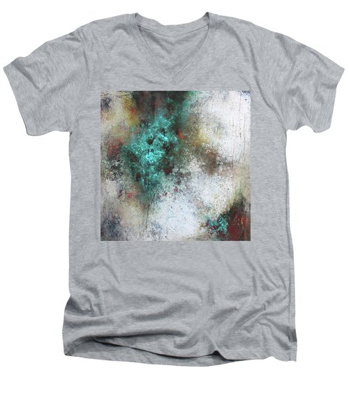Tuscany Oil And Cold Wax Men's V-Neck T-Shirt by Patricia Lintner
