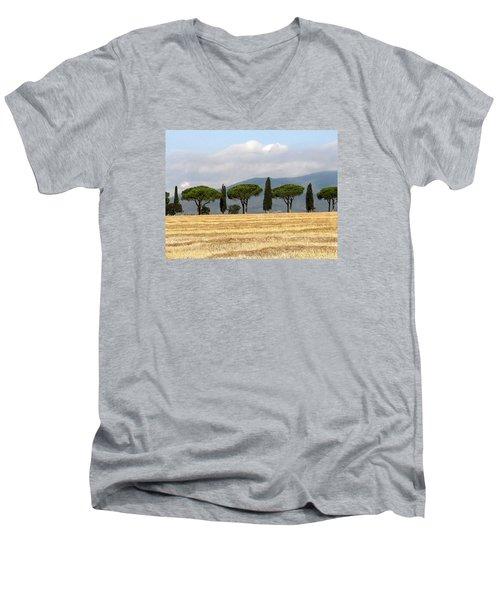 Tuscany Trees Men's V-Neck T-Shirt