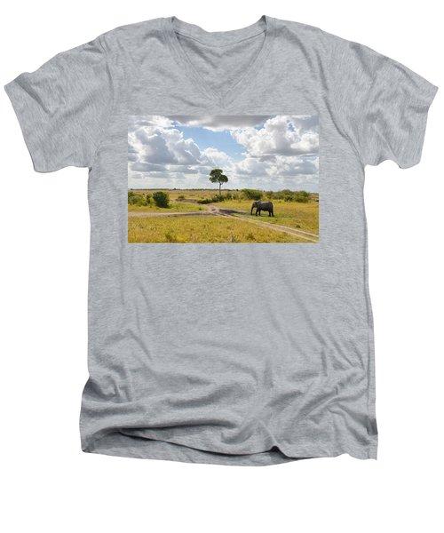 Tusker Scape Men's V-Neck T-Shirt