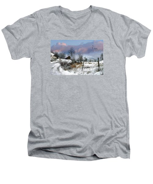 Twain's Barn Men's V-Neck T-Shirt