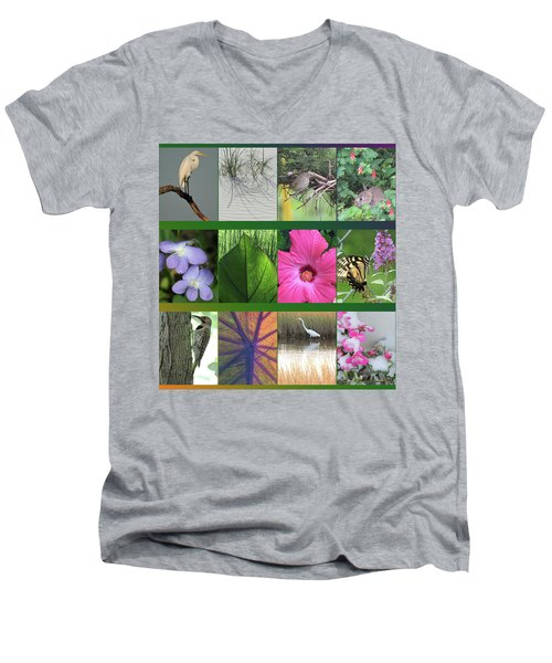 Men's V-Neck T-Shirt featuring the photograph Twelve Months Of Nature by Peg Toliver