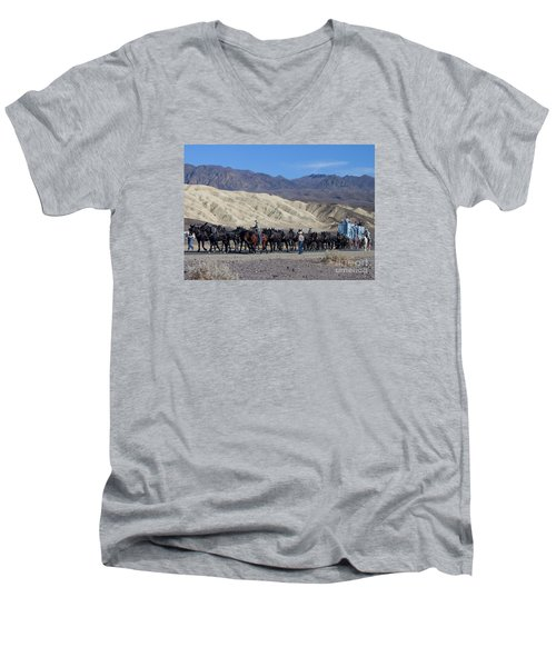 Men's V-Neck T-Shirt featuring the photograph Twenty Mule Teams by Ivete Basso Photography