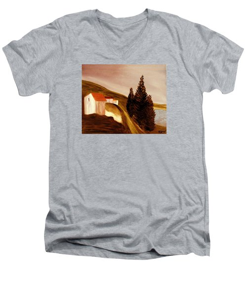 Twilight Men's V-Neck T-Shirt by Bill OConnor