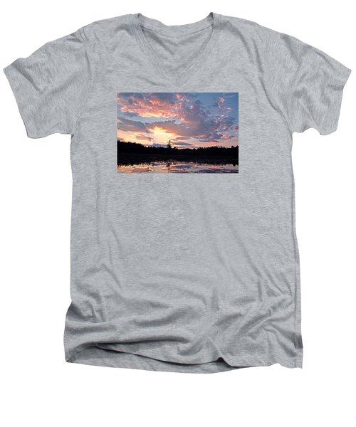 Twilight Glory Men's V-Neck T-Shirt by Lynda Lehmann