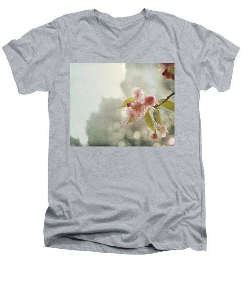 Men's V-Neck T-Shirt featuring the photograph Twilight In The Garden by Brooke T Ryan
