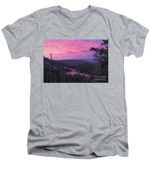 Twilight Mammoth Lakes  Men's V-Neck T-Shirt