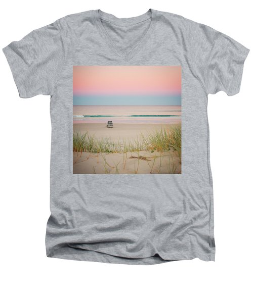 Twilight On The Beach Men's V-Neck T-Shirt