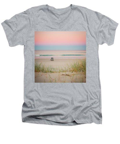 Twilight On The Beach Men's V-Neck T-Shirt