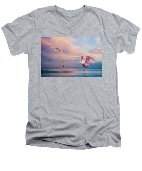 Twilight On The Gulf Men's V-Neck T-Shirt