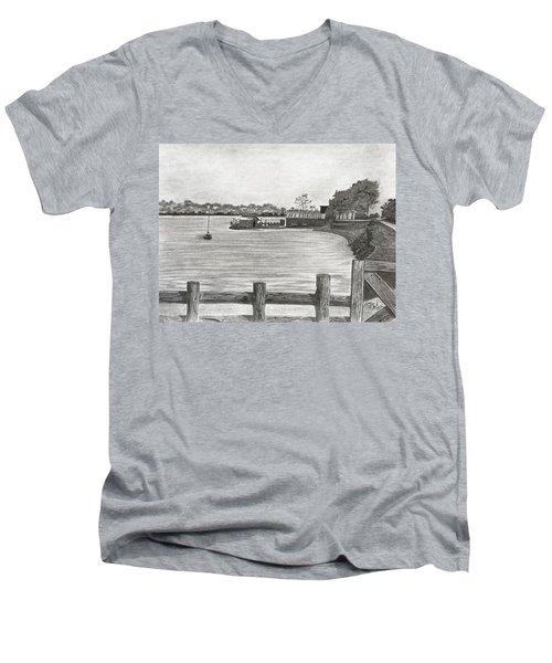 Twilight On Tomales Bay Men's V-Neck T-Shirt