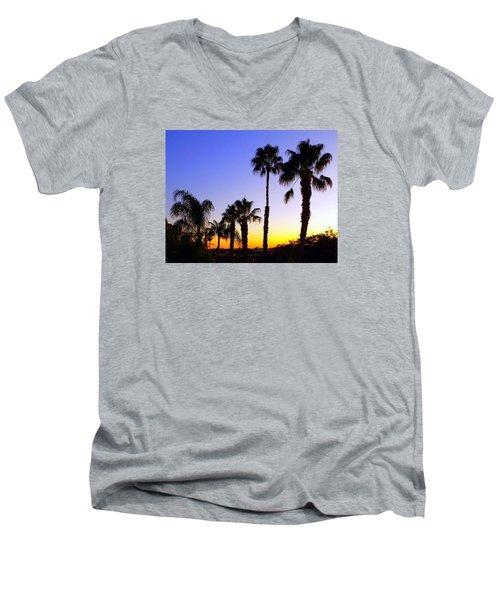 Twilight Palms Men's V-Neck T-Shirt