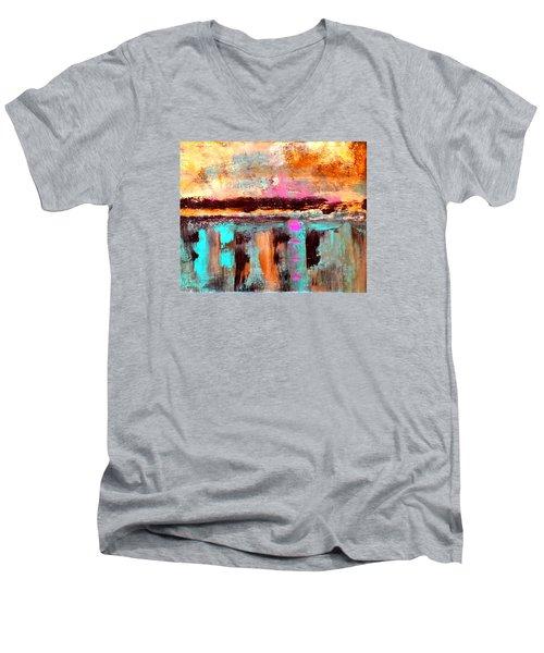 Twilight Reflections Men's V-Neck T-Shirt