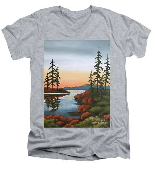 Twilight Sunset Men's V-Neck T-Shirt