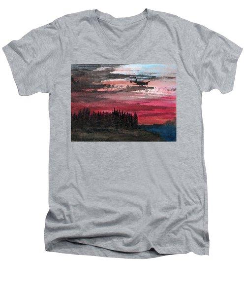 Twin Beech Late Men's V-Neck T-Shirt