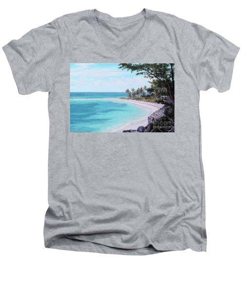 Twin Cove Paradise Men's V-Neck T-Shirt