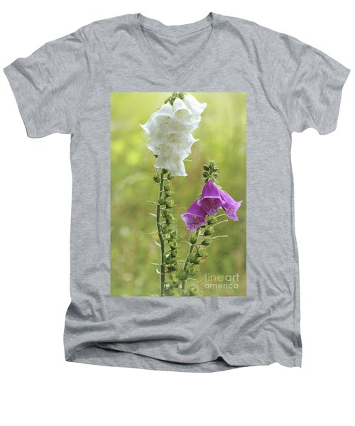 Twin Foxgloves Men's V-Neck T-Shirt
