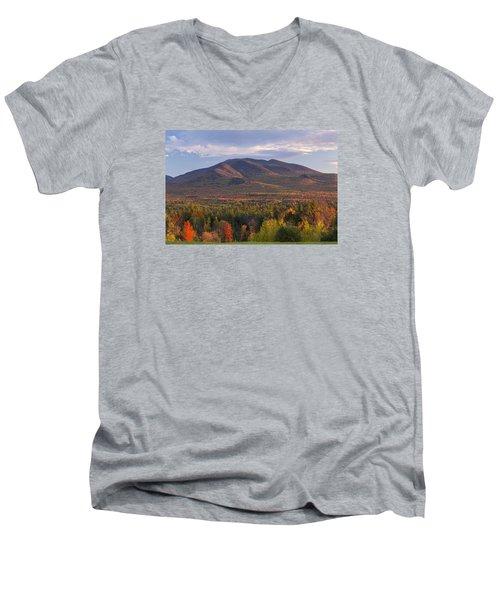 Twin Mountain Autumn Sunset Men's V-Neck T-Shirt
