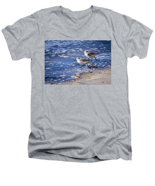 Twin Plovers Men's V-Neck T-Shirt
