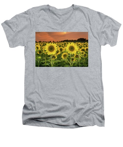 Men's V-Neck T-Shirt featuring the photograph Peaceful Opposition by Bill Pevlor
