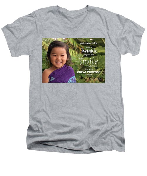 Twinkle Smile Men's V-Neck T-Shirt