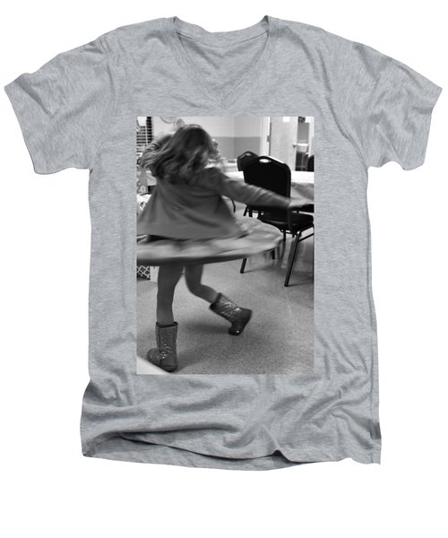 Twirling Girl  Men's V-Neck T-Shirt