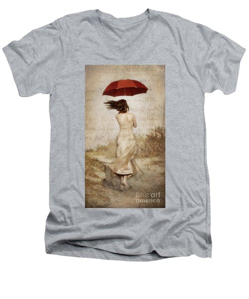 Twirling Painted Lady Men's V-Neck T-Shirt