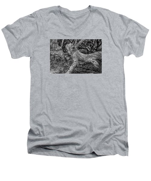 Twisted Men's V-Neck T-Shirt by Mark Lucey