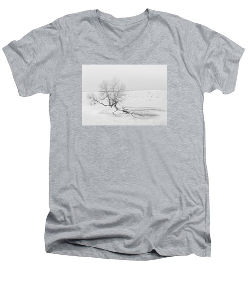 Men's V-Neck T-Shirt featuring the photograph Twisted Tree by Dan Traun