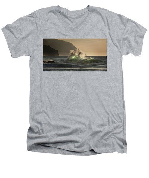 Twisted Wave Men's V-Neck T-Shirt