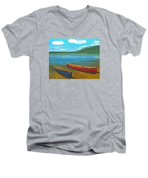 Two Canoes Men's V-Neck T-Shirt
