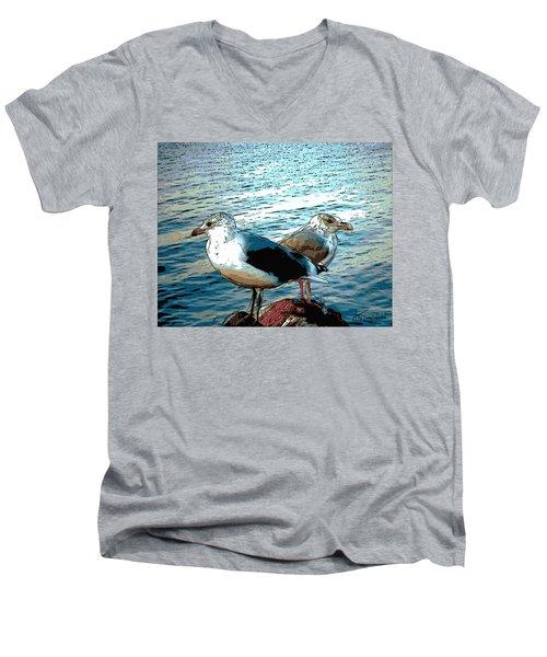 Two Gulls Men's V-Neck T-Shirt