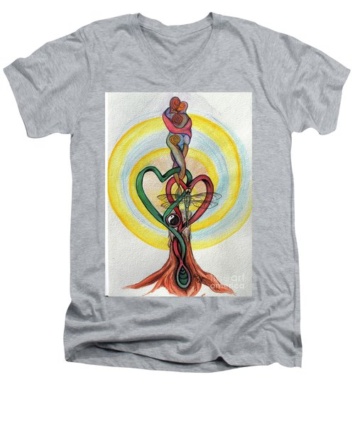Two Hearts Men's V-Neck T-Shirt