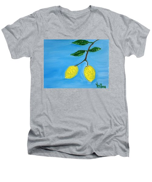 Two Lemons For Karen Men's V-Neck T-Shirt