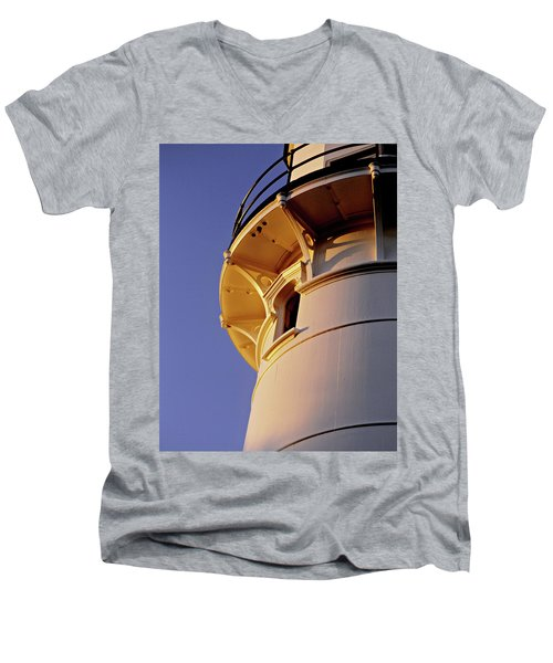 Two Lights, Cape Elizabeth Men's V-Neck T-Shirt