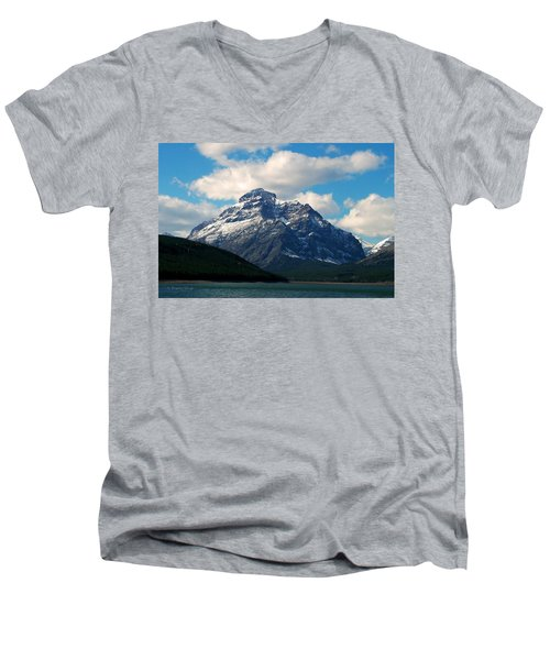 Two Medicine Lake And Rising Wolf Mountain Men's V-Neck T-Shirt