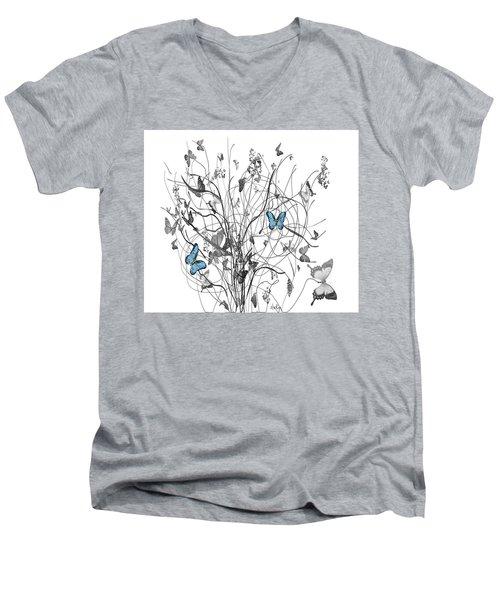 Two Of A Kind  Men's V-Neck T-Shirt by Sladjana Lazarevic