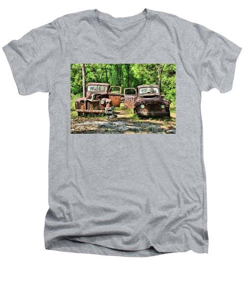 Two Old Dogs Men's V-Neck T-Shirt