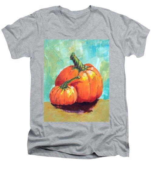 Two Pumpkins  Men's V-Neck T-Shirt