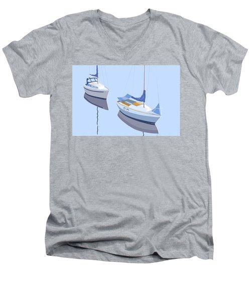 Two Sloops Men's V-Neck T-Shirt
