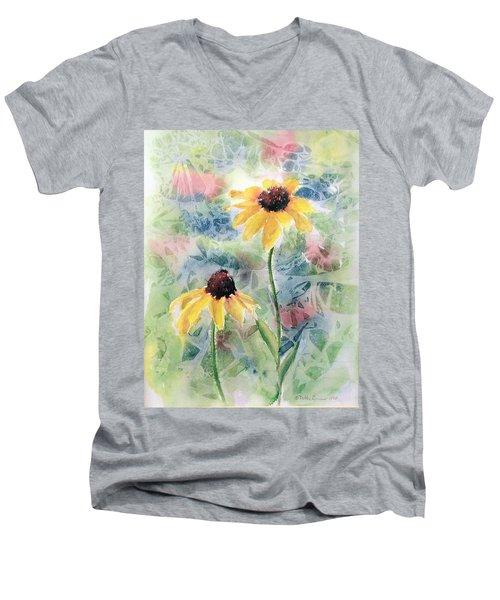 Two Sunflowers Men's V-Neck T-Shirt