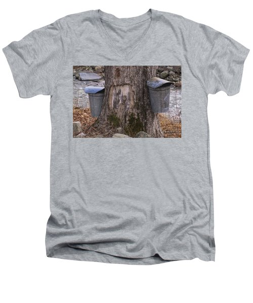Two Syrup Buckets Men's V-Neck T-Shirt